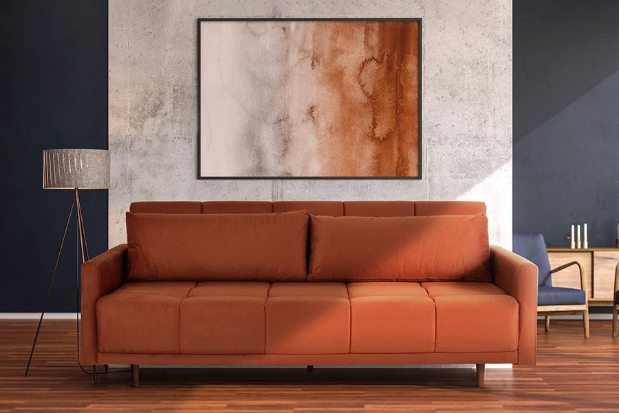 Sofás coloridos e ousados na decoração.