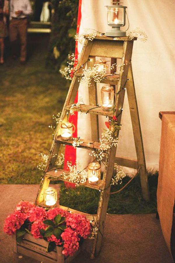 Decoração com velas.