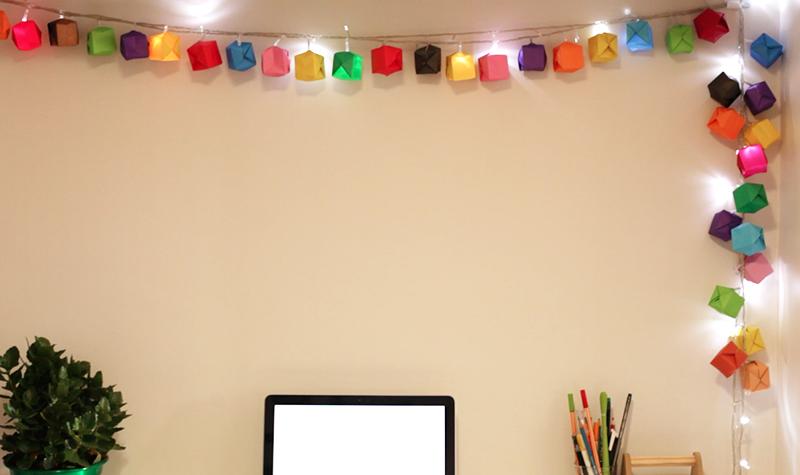Origami na decoração.