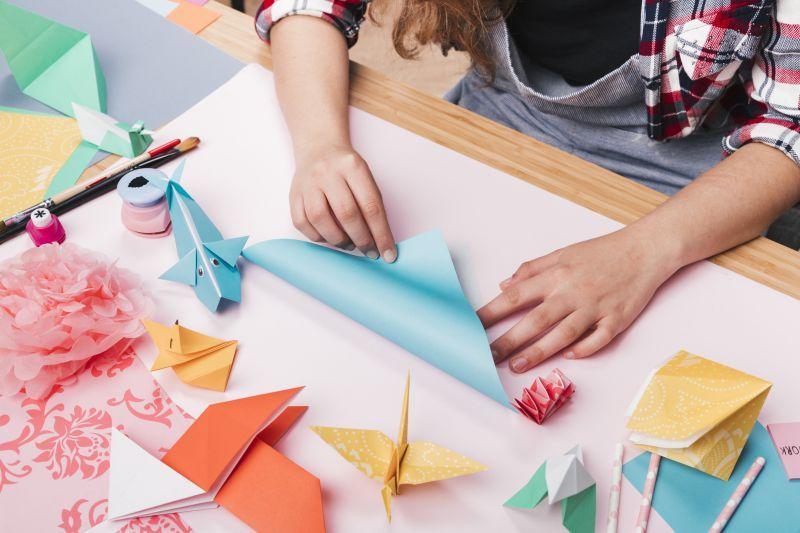 Origamis na decoração.