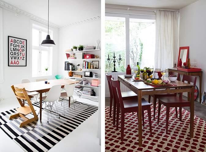 escolha o tapete com base nas nas cores do ambiente.