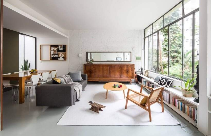 Sala de estar urbana e industrual