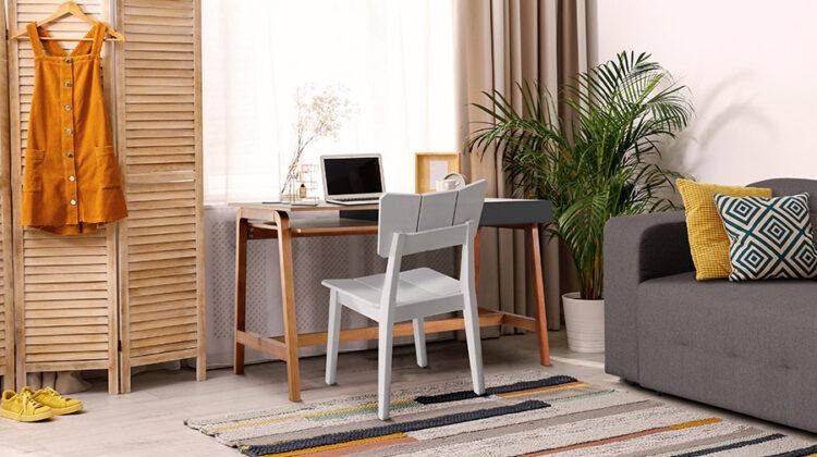Ambiente integrado - Home Office e Quarto de Visitas.