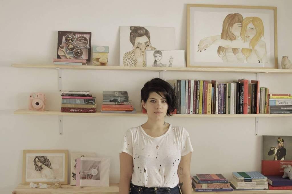 Natacha Cortêz e seus desenhos