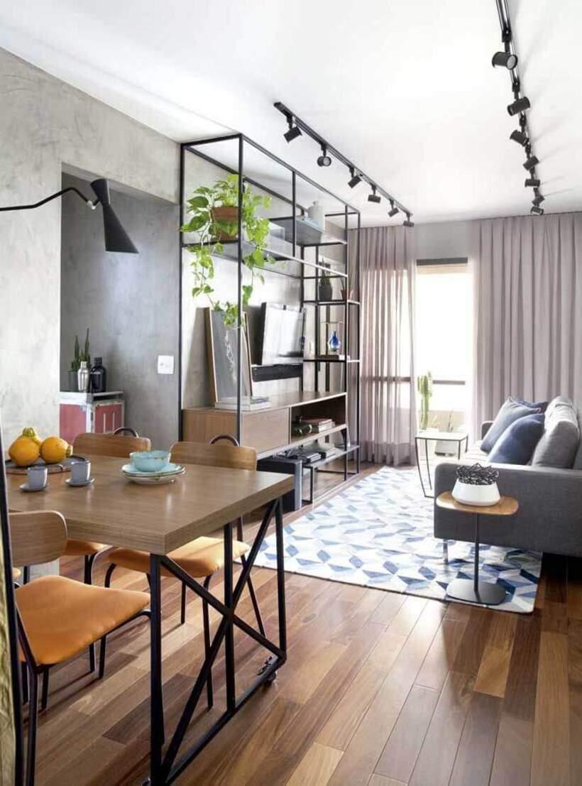 sala de estar urbana industrial.
