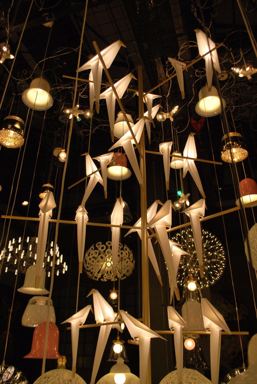 luminária pássaros de papel