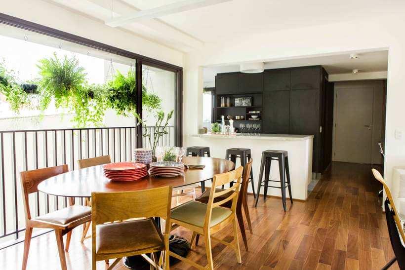 cozinha de apartamento decorado