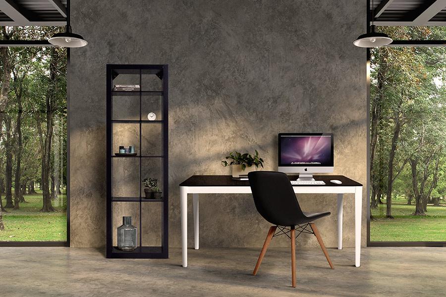Preto e Branco na decoração do Home Office.
