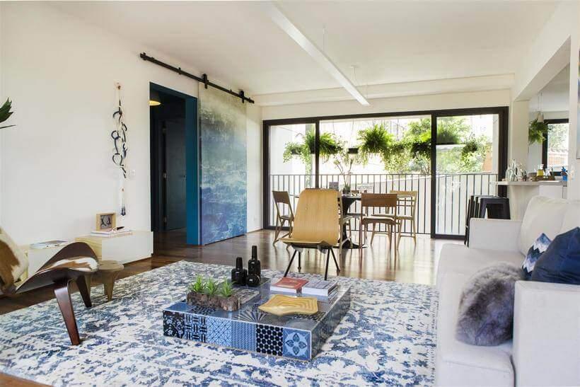 apartamento decorado com tapete