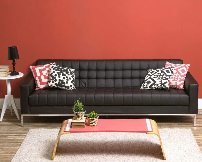 Um sofá novo para impressionar.