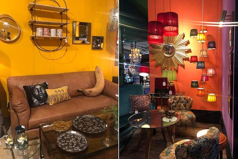 Parede amarela ou parede laranja? Você decide! Fotos: Viví Kolér / Maison & Objet.