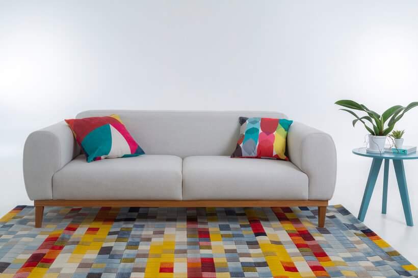 De visual neutro mas marcante, o Sofá Bump faz bonito em qualquer ambiente. Foto: Oppa