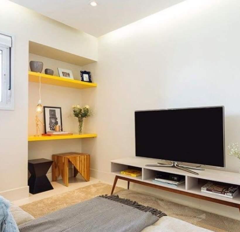 Sala pequena #10 – Design minimalista e máximo uso da área