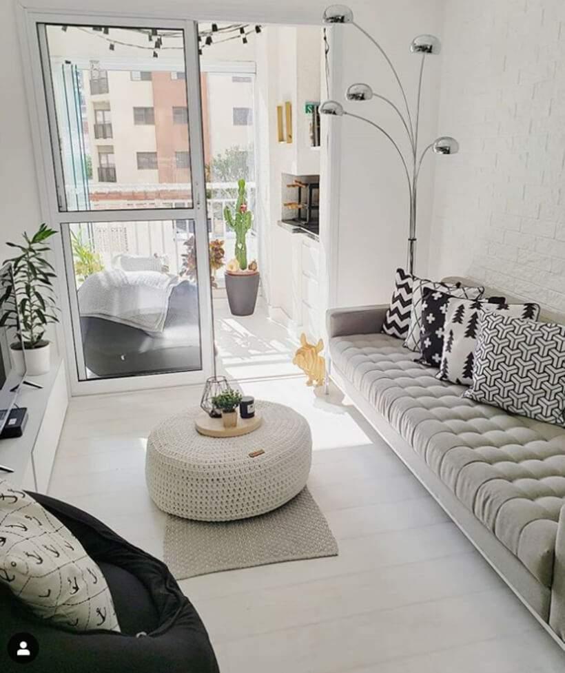 Sala pequena #3 – Estar decorado ao estilo nórdico
