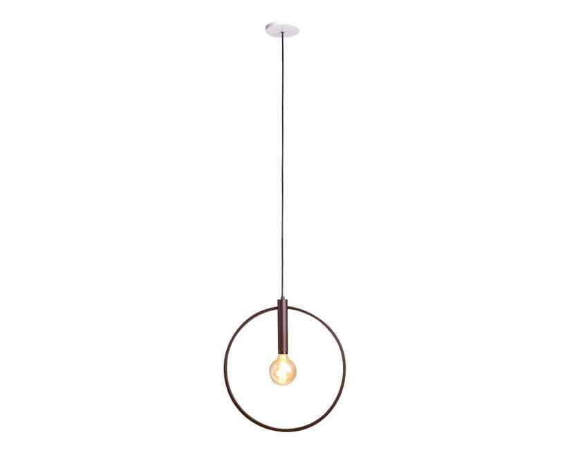 Luminária Pendente Aro 45 cm Corten