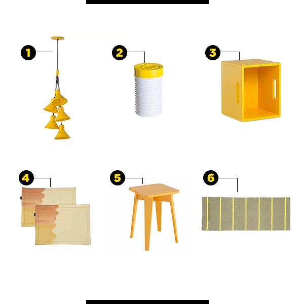 Produtos amarelos para a cozinha
