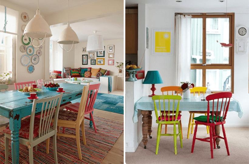 Sala de jantar com cadeiras