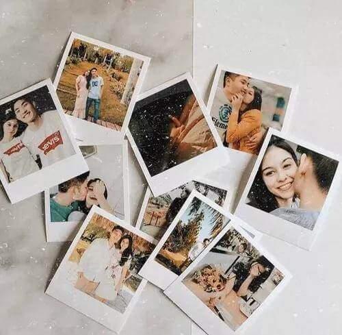 Fotos reveladas do casal.